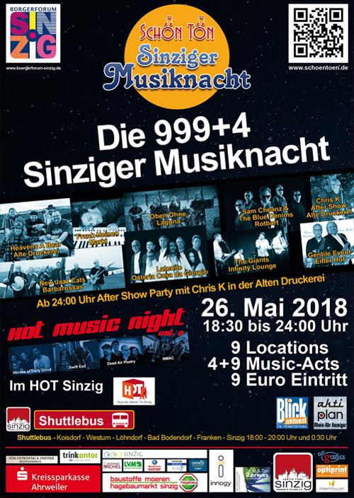 Plakat Musiknacht 2018